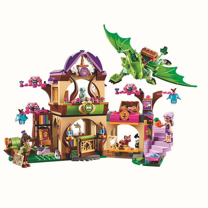 toy 10504 Friends Elves The Secret Market Place Model Blocks Building Kit  Brick Toys Compatible with Toys 41176 10504 694 pcs the secret market place building kit dragon figures building block compatible with lepin girl toys gift