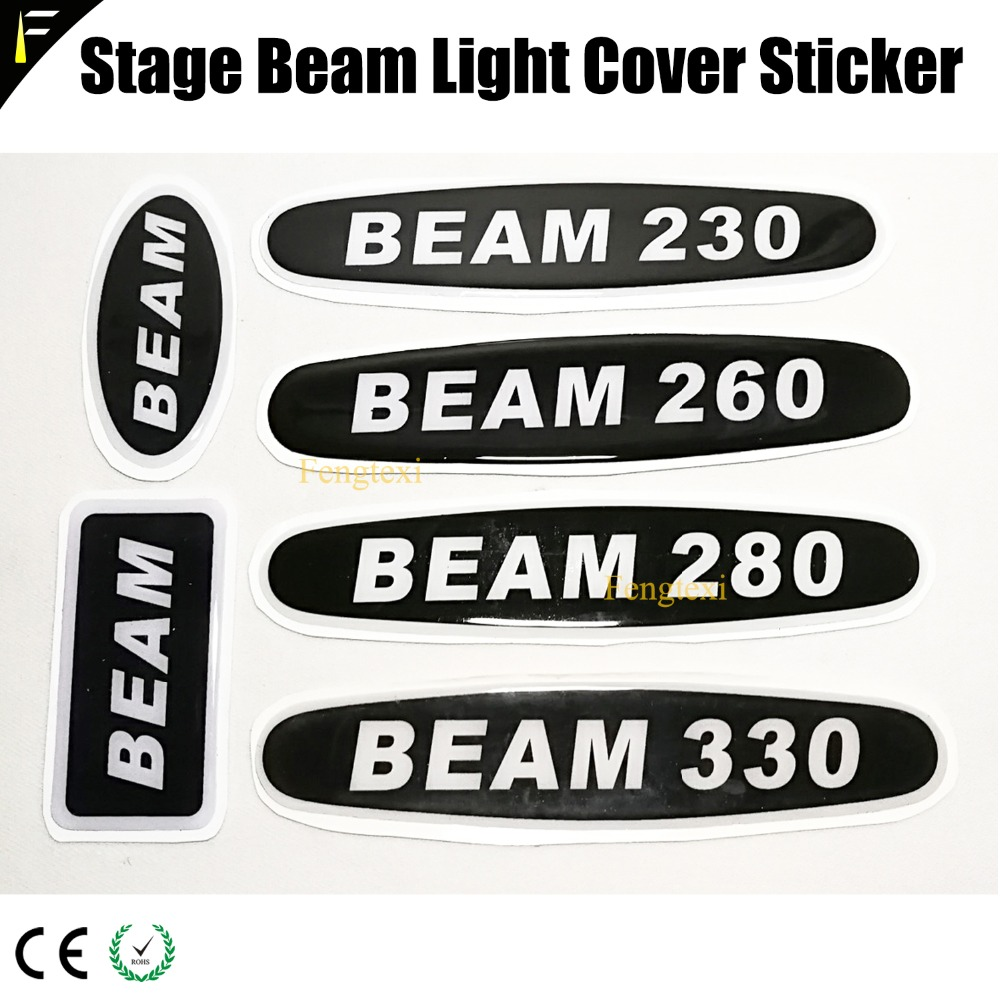 Stage Light Fixtures Arm Cover Sticker Beam 200/230/260/330 Thin Film Epoxy Logo Name StickersStage Light Fixtures Arm Cover Sticker Beam 200/230/260/330 Thin Film Epoxy Logo Name Stickers