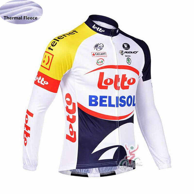 maillot ciclismo hombre LAMPER LOTTO Winter Thermal Fleece Cycling Jersey  Long Sleeve MTB bike Wear shirt 3d1cb935a