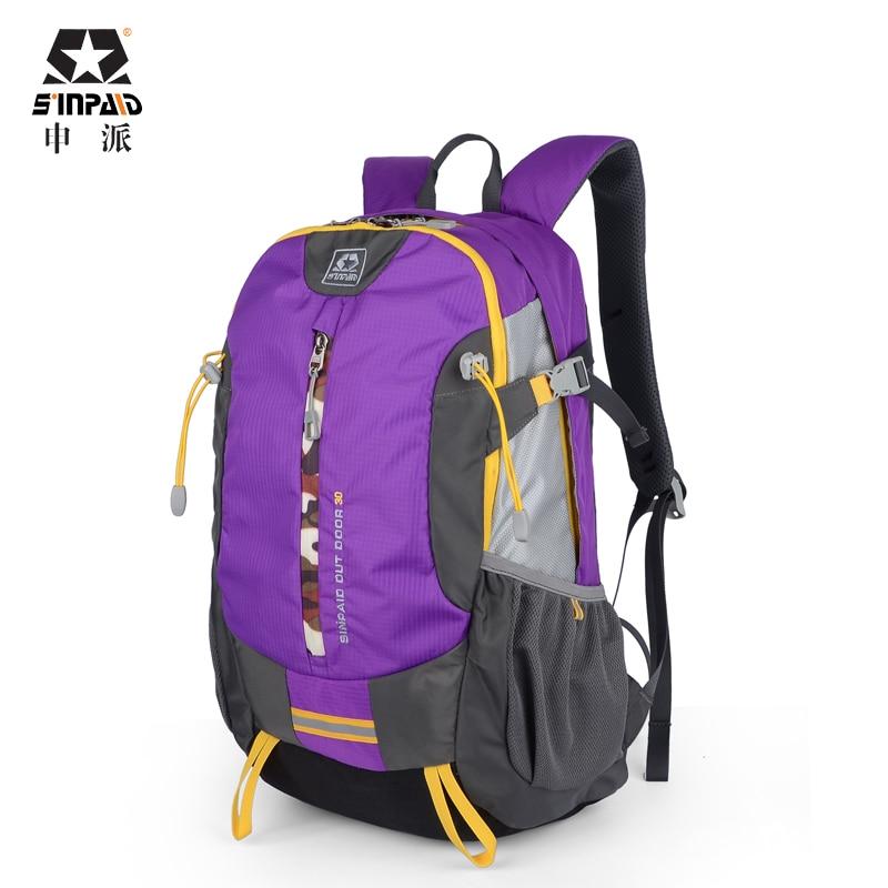 SINPAID Зовнішній рюкзак великої ємності Водонепроникна дорожня сумка для 14-дюймового і 15,6-дюймового ноутбука