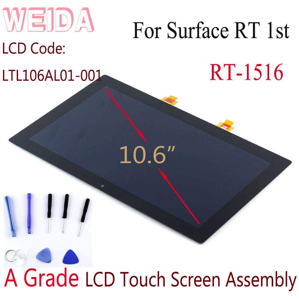 WEIDA LCD Replacment For Microsoft Surface RT 1516 10.6