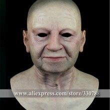[SF-N6] Высокое качество, маска для пожилых мужчин, маскарадные маски для мужчин, силиконовая маска для лица, маски для Хэллоуина на всю голову