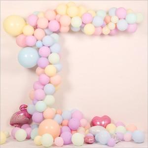 Image 4 - 100pc/lot 10 inch Macaron Latex balloons Wedding Birthday Decoration Globos Baby Shower Girl Birthday Party Pastel Balloons
