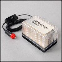 CYAN ĐẤT BAY 48 LED Amber/Trắng Xe Roof Flashing Flash Strobe Khẩn Cấp Ánh Sáng Hàng Đầu