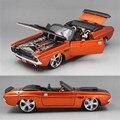 Maisto 1:24 diecast dodge charger r/t 1969/1970 versión fast and furious carácter clásico modelo de coche musle colección