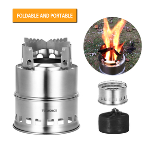 Image 3 - TOMSHOO Portable Folding Windproof Wood Burning Stove Compact Stainless Steel Alcohol Stove Outdoor Camping Hiking Backpacking