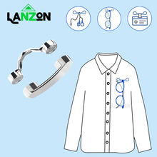 Magnetic Eyeglass Holder Clothes Clip Brooch for Hold Glasse