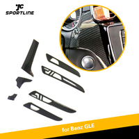 For Mercedes Benz GLE 43 450 63 AMG 2016 2017 2018 Carbon Firber Central Control Console Air Conditioning Panel Cover Trim 7pcs