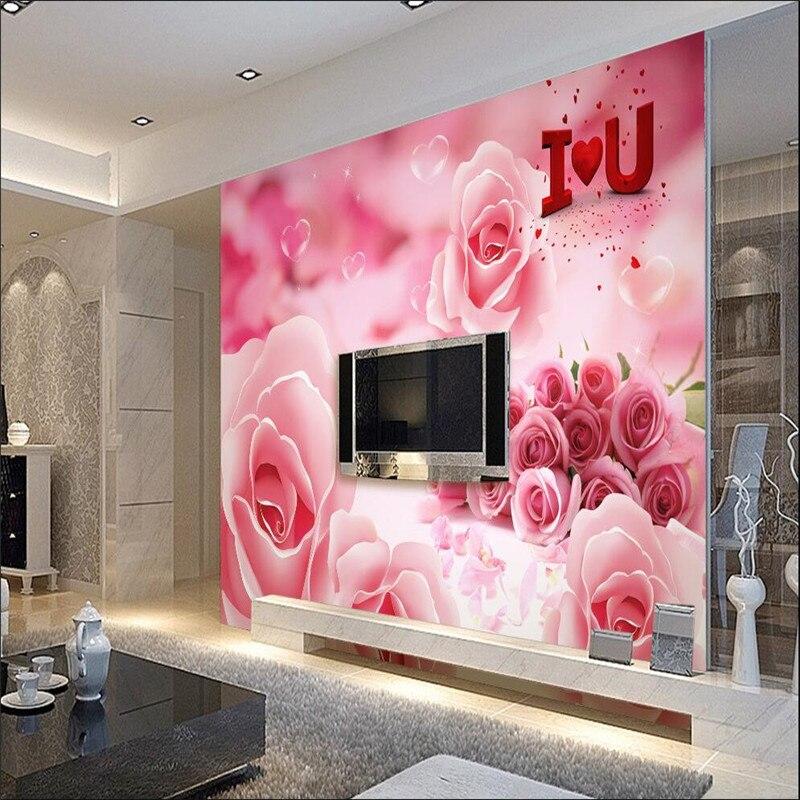 இ3d behang muurschilderingen decor picture achtergrond Roze ...