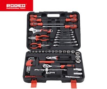 RODEO HTS9052 52pcs Home Tools Car Repair Ratchet Spanner Wrench Socket Set Household Tool Set Home Repair Tool Set Hand Tools 61 pcs set socket wrench set spanner car ship machine repair service tools kit with heavy duty ratchet socket wrench tool 1 pc