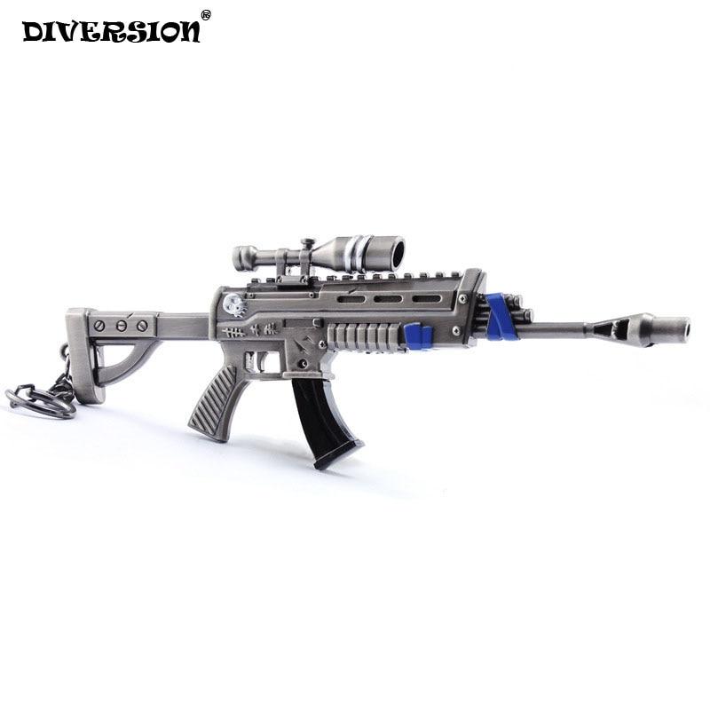 Benteng Malam Gantungan Kunci Action Figure Dari Senapan Sniper Senjata Model Paduan Senjata Pubg Mainan Pertempuran
