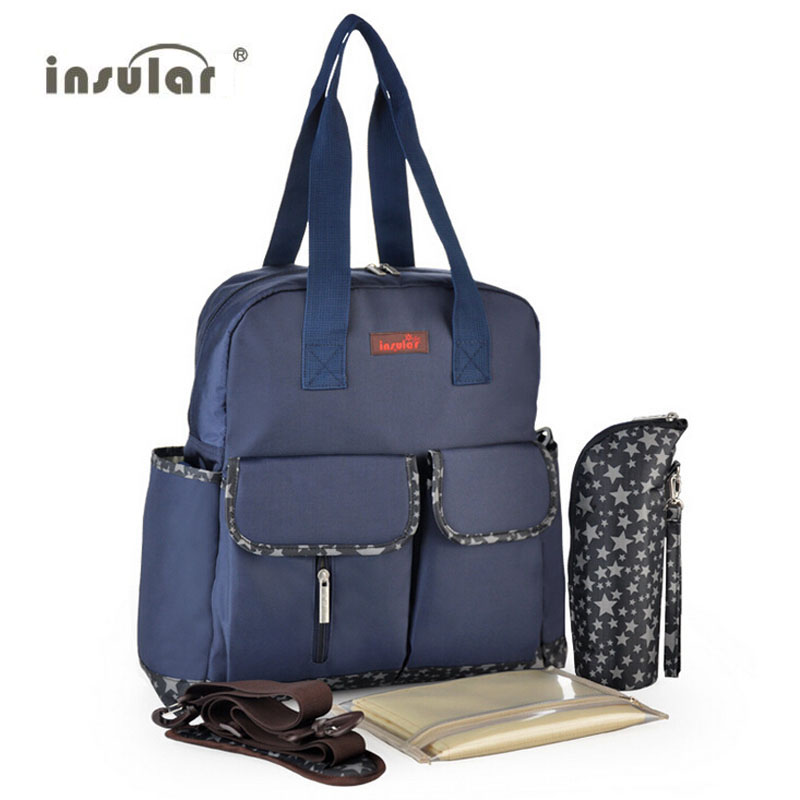 ФОТО Insular Baby Diaper Backpack Anti-microbial Big Capacity Baby Carriage / Stroller / Pram Nappy Bag Bolsa Maternidade