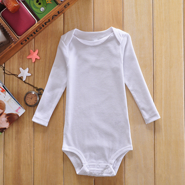 Wholesale Baby Clothes Newborn Baby Cotton White Bodysuits ...