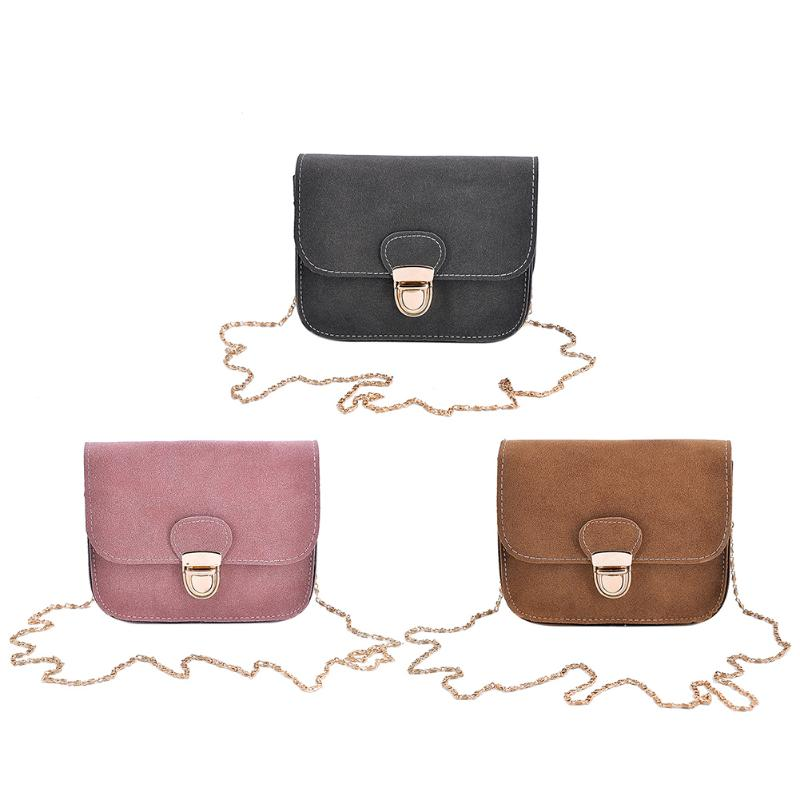 Women Simple PU Leather Bag Long Chain Crossbody Bags for Pure Mini Square Shoulder Bags Female Small Handbag Cluthes Bag 2017 top handle women tassel chain small bags mini lady fashion round shoulder bag handbag pu leather sling crossbody bag female