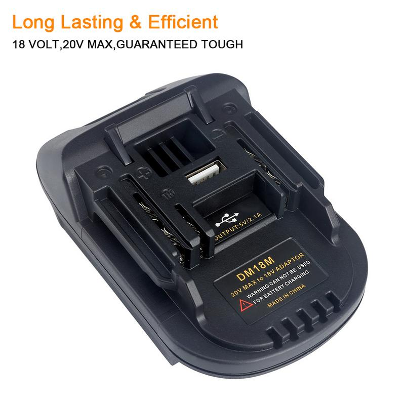 New 18V Battery Convertor Adapter DM18M Converted to Li-Ion  Charger Tool Convertor for MAKITA BatteriesNew 18V Battery Convertor Adapter DM18M Converted to Li-Ion  Charger Tool Convertor for MAKITA Batteries