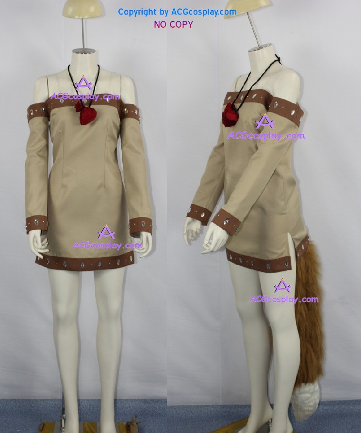 Spice and Wolf Holo cosplay costume include the big fur tail and hair accessory ACGcosplay new sugar and spice the