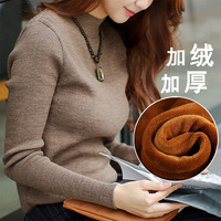 Thick Warm Winter Sweater Women 2018 Knitted Velvet Pullover Female Jumper Tricot Pullover Women's Winter Tops Pull Femme