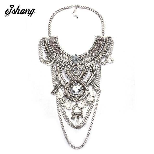 b166c315fb24 Collares de moda Colgante de la Mujer 2016 Gargantilla Joyería Coin Collier  Femme Largo Traje de