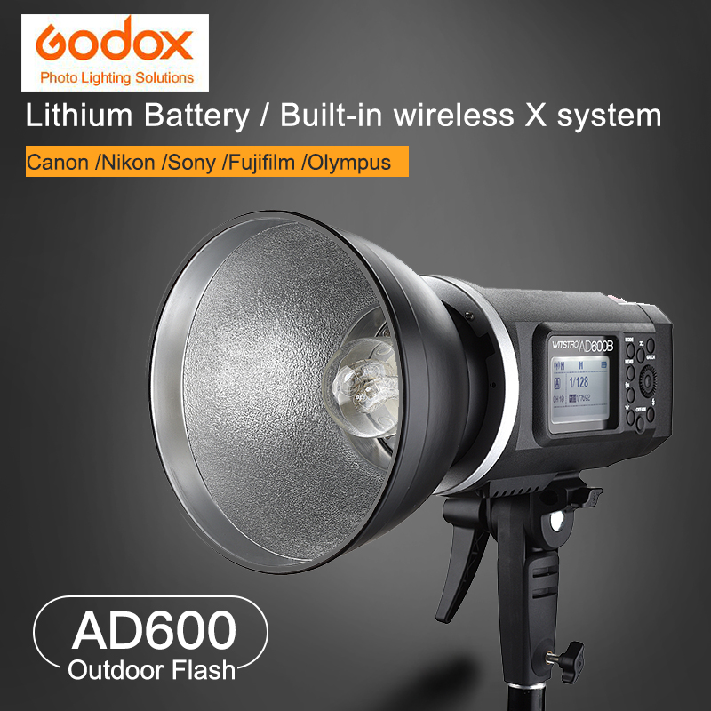 Godox AD600B Bowens Mount 600Ws GN87 High Speed Sync Outdoor Studio Flash Strobe Light Wireless control with Lithium Battery free shipping godox 32x48 80x120cm softbox with bowens mount for pro photography studio strobe flash light