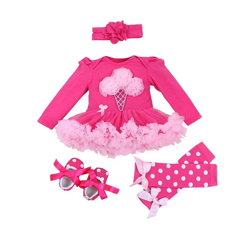 Newborn Baby Girl Clothes Brand Baby 4Pcs Clothing sets Tutu Romper Roupas De Bebe Menina Infant 0-2T Newborn Baby Clothing Set
