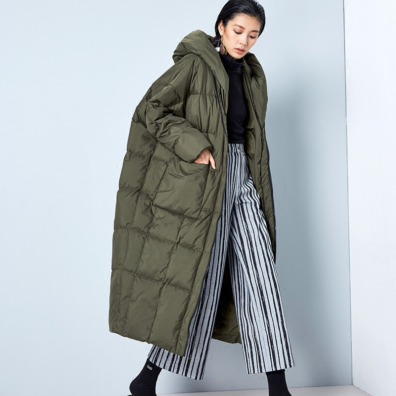 Women down coat long