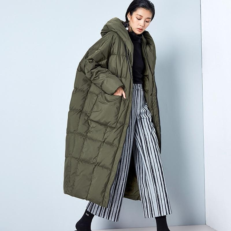 Popular Winter Down Coat Women Hooded Cocoon-Buy Cheap Winter Down ...