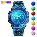 SKMEI Военные детские спортивные часы 50 м водонепроницаемые электронные наручные часы секундомер часы детские электронные часы для мальчико...