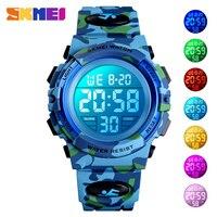 SKMEI Военные детские спортивные часы 50 м водонепроницаемые электронные наручные часы секундомер часы детские электронные часы для мальчико
