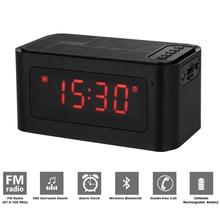 цена на Wireless Portable Mini Bluetooth Speaker with LED Stereo Boombox altavoz Support TF Card FM caixa de som Alarm Clock MP3 Player