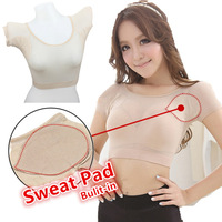Ultra Thin 2In1 Built In Armpit Sweat Pad Perfume Vest Corset Sweat Absorbent Deodorant Body Shaper
