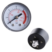 Air Compressor Pneumatic Hydraulic Fluid Pressure Gauge 0-12Bar / 0-170PSI
