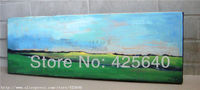 Meadow Acrylic Paint Home Decoration Oil Painting on canvas hight Quality Hand painted Wall Art 24X48 inch ,36X72 inch