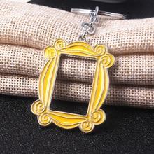 TV Show Friends Gold Photo Frame Logo Keychain Car Pendants High Quality Enamel For Best Friend Key Chain Accessories