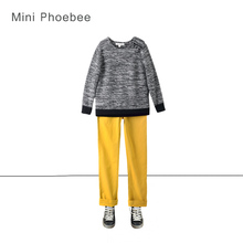 brand phoebee 3-8 years boy winter knitted suit include sweaters and pant winter sweater suit knit coat kids christmas clothing