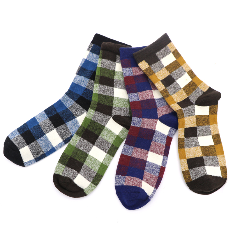 10Pair Classic Bright Socks Men Calcetines Hombre Invierno Warm Socks Winter Chaussette Homme Mens Casual Socks for Men Brand