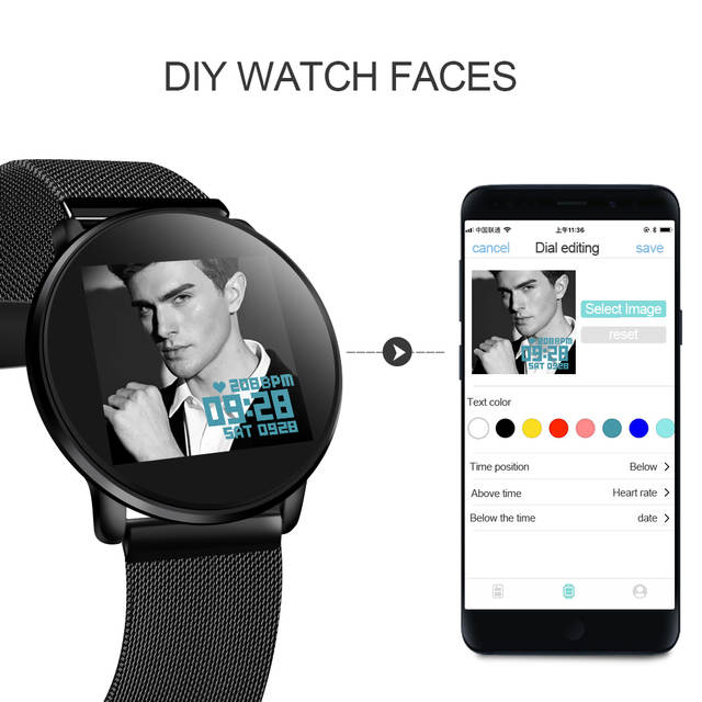 LEMFO LT03 Smart Watch Men Women Tempered glass DIY Watch Faces  Multi-sports Mode Heart Rate Monitor Smartwatch for IOS Android