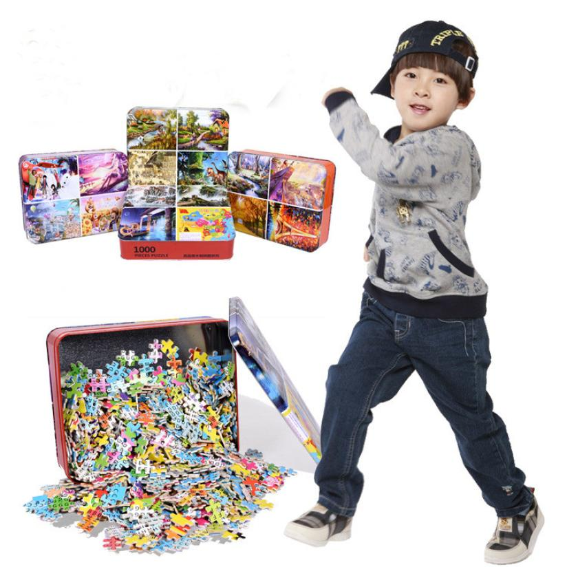 1000 Pieces Wooden Puzzle Educational Developmental Kid Training Toy Gift Puzzle Q20 AUG24