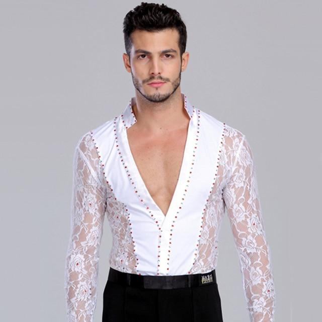 f92ad1fa2 2019 New Men/Boy's Latin Dance Dress Long Sleeve Men's Shirt 105-180 Cm  Ballroom/Latin Stage Dance Clothing Free Shipping DQ5078