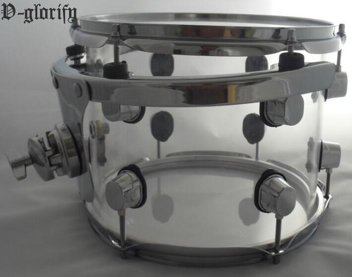 10*7inch 12*8inch snare drum tom drum acrylic material evans b13dry 13 genera dry snare tom timbale