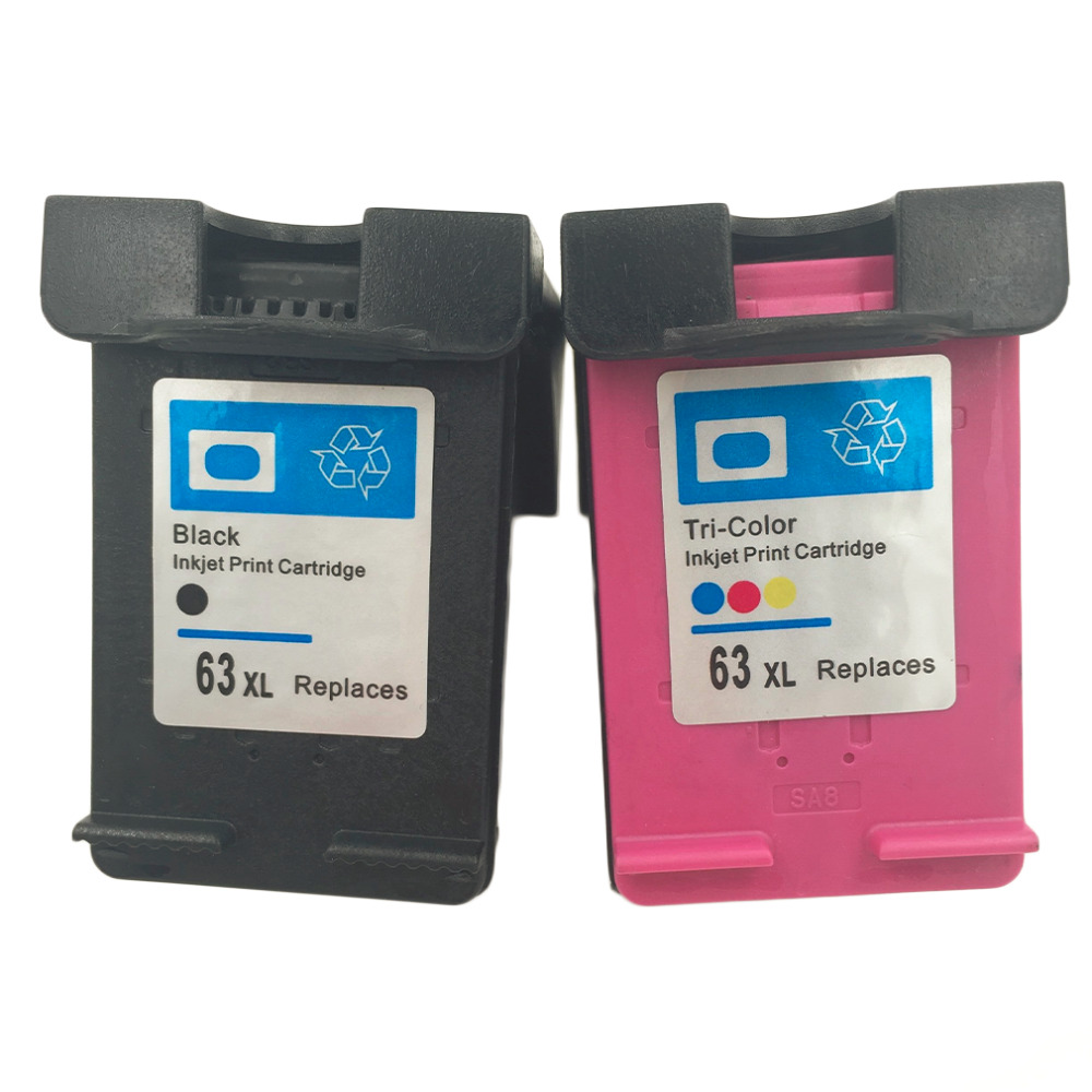 High Quality Ink Cartridge Replacement for HP 63 XL Replacement for HP 63 Officejet 2620 for ENVY 4500 Hot Sale Drop Shipping