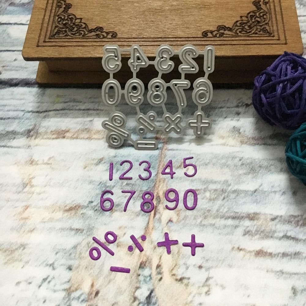 New 0 9 Numbers Math Symbols Metal Cutting Dies Stencils Diy