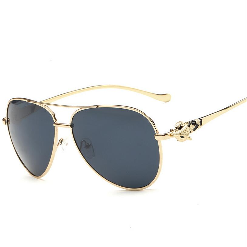2016 Luxury Diamond Metal Fox Shape Sunglasses Women Brand