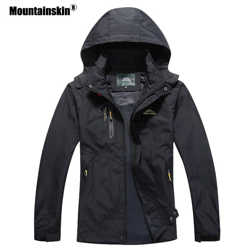 Mountainskin 2018 New Men's Casual Jackets Autumn Outerwear Waterproof Windbreaker Men Hooded Coat Mens Brand Clothing 5XL SA545