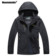 Mountainskin 2020 New Mens Casual Jackets Autumn Outerwear Waterproof Windbreaker Men Hooded Coat Mens Brand Clothing 5XL SA545