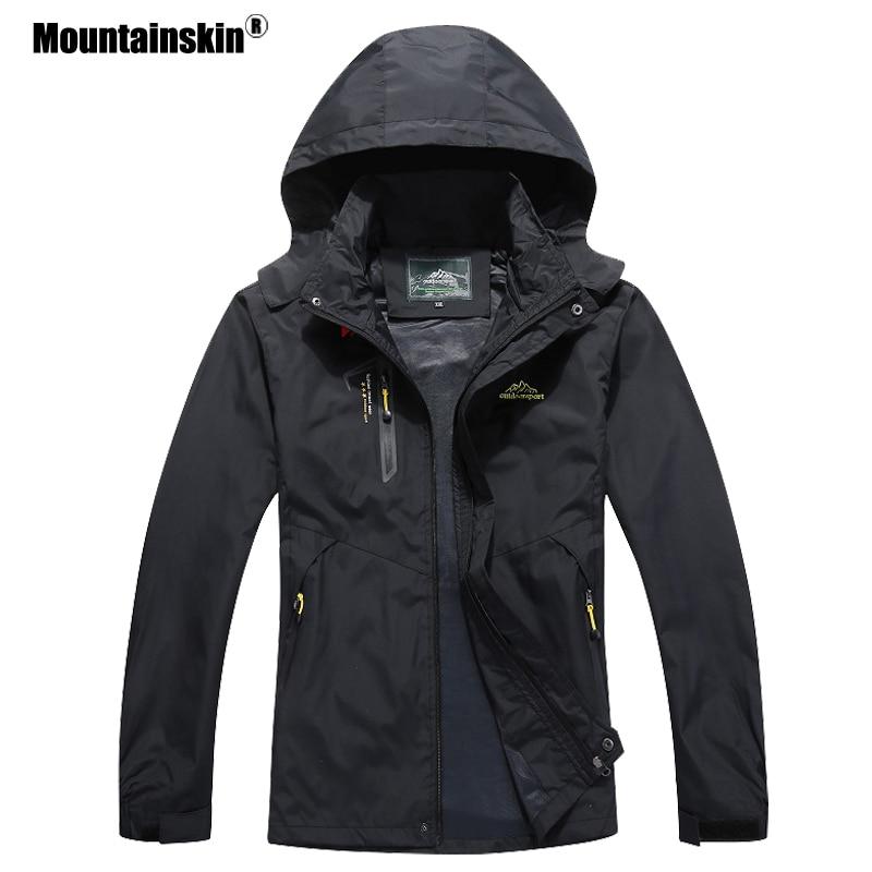 Mountainskin 2020 New Men's Casual Jackets Autumn Outerwear Waterproof Windbreaker Men Hooded Coat Mens Brand Clothing 5XL SA545