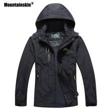 Mountainskin 2020 ใหม่ของผู้ชายลำลองแจ็คเก็ตฤดูใบไม้ร่วง Outerwear เสื้อกันหนาวกันน้ำ Hooded Coat บุรุษแบรนด์เสื้อผ้า 5XL SA545