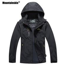 جواكت غير رسمية للرجال من Mountainskin موضة 2020 ملابس خارجية للخريف مقاومة للماء معطف بقلنسوة للرجال ملابس أصلية للرجال 5XL SA545