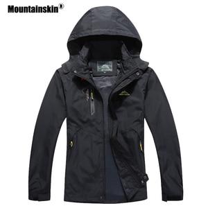 Image 1 - Мужская повседневная куртка Mountainskin, водонепроницаемая ветровка с капюшоном, брендовая одежда, размеры до 5XL, осень 2020