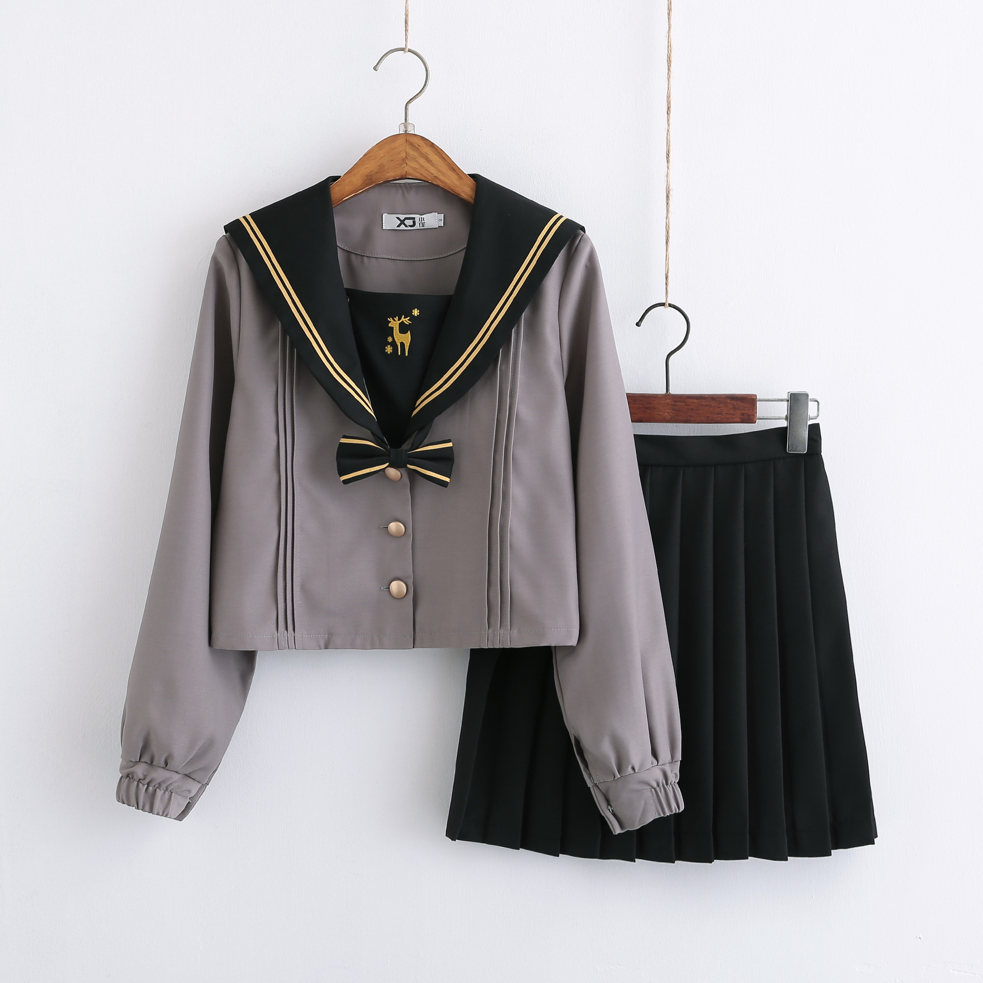 School Uniform Japan Embroidery Academy Style Navy Sailor Suits Saxe Gray Chorus Anime Cosplay Costumes School girl Jk Uniforms