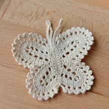 Crochet Lace Patch Diy-Accessories Butterfly Cotton Stickers Lei Affixed Sibu